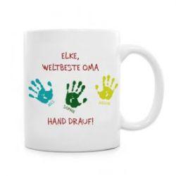 Tasse für Oma - Hand drauf
