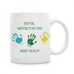 Tasse für Opa - Hand drauf