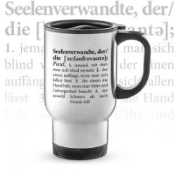 Thermobecher personalisiert - Definition Seelenverwandte