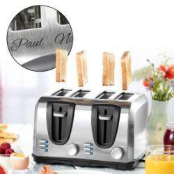 Toaster vierfach - graviert