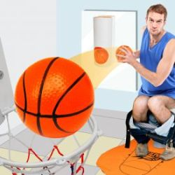 Toiletten Basketball Set