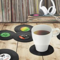 Dessous de verre disques vinyles