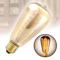 Vintage Glühbirne mit Glühdraht - konisch