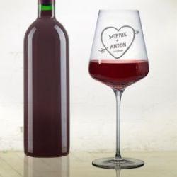 Verre à vin avec gravure – Flèche d'Amor