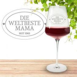 Weinglas mit Gravur - Die Weltbeste Mama