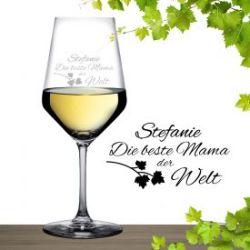 Weißweinglas mit Gravur - Beste Mama