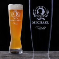 Weizenglas mit Gravur - Bier Kenner