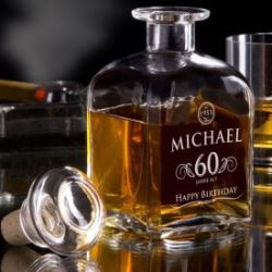 Whisky Karaffe 60. Geburtstag - elegant
