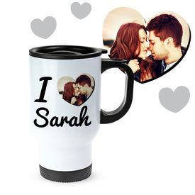 Tasse thermo personnalise avec photo  I love