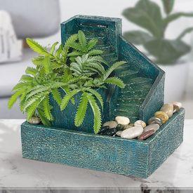 Zimmerbrunnen zum Bepflanzen - mit Steinstufen
