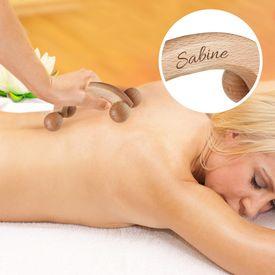 Rouleau de massage avec gravure