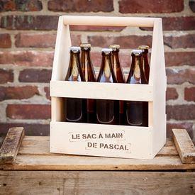 Flaschentrger mit Gravur - Mnnerhandtasche