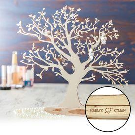 Baum mit Sockel graviert - fr Paare gro