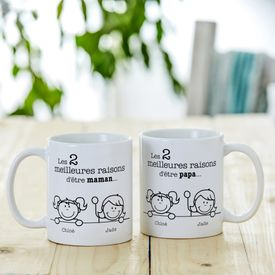 Set de tasses - Les meilleures raisons dtre parents