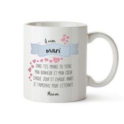 Tasse personnalisée - Poème d'amour pour époux