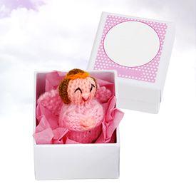 Petit ange gardien - talisman rose fait main