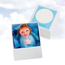 Petit ange gardien - Talisman bleu fait main