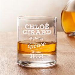 Verre à whisky avec gravure - Meilleure épouse