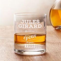 Verre à whisky avec gravure - Meilleur époux