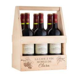 Porte-bouteille avec verre à vin personnalisés - Cave à vin mobi