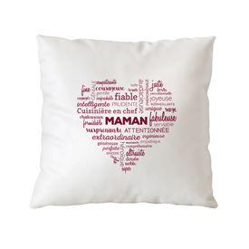 Personalisiertes Kissen fr Mama - Herz aus Worten