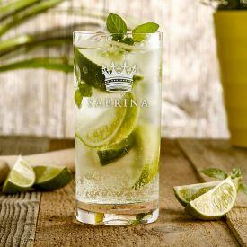 Cocktailglas mit Gravur - Knig Krone