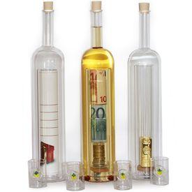 Geschenkflasche mit Hohlraum