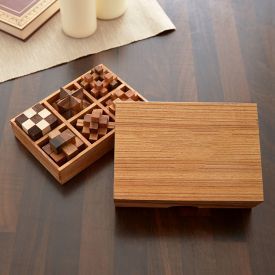 Holz Knobelspiele IQ-Genie 6er Set
