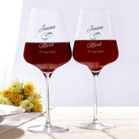 Weingläser zur Hochzeit - Geschenke zum Polterabend