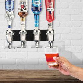Bar Butler f�r die Wand - 4er Flaschenhalter