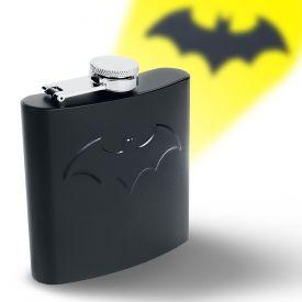 Batman Flachmann mit Logo