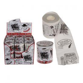 Bedrucktes Toilettenpapier - WC Witze - Lustige Weihnachtsgeschenke
