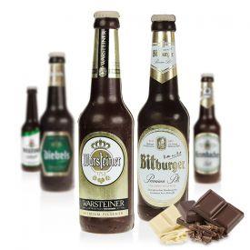 Bierflasche aus Schokolade