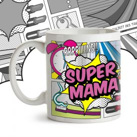 Comic Tasse - Super Mama