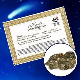 Echter Meteoritensplitter - Urkunden und Auszeichnungen