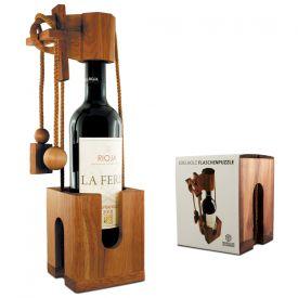 Edelholz Flaschenpuzzle - Geschenke zum Polterabend