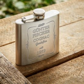 Flachmann mit Gravur - Cognac Genießer