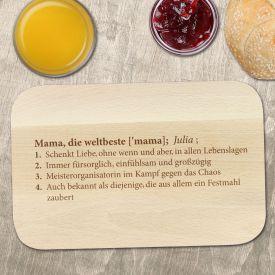 Fr�hst�cksbrett mit Gravur - Definition Weltbeste Mama