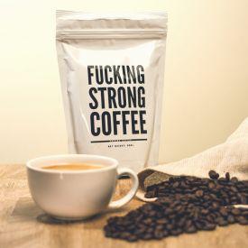 Fucking Strong Coffee - 250g - Kaffee, Starker Kaffee, Gemahlener kaffee, Arabica Kaffee, Kaffee Arabica, Kaffeespezialitäten, Koffein, Fucking Strong Coffee, Fucking Strong Coffee - 250g