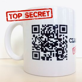 Geheimtasse QR Code - Weihnachtsgeschenke für Kunden