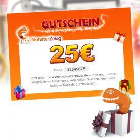 Geschenk Gutschein 25 Euro - Gutscheine