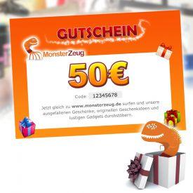 Geschenk Gutschein 50 Euro - Gutscheine