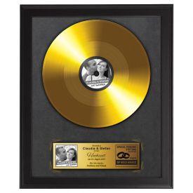 Goldene Schallplatte - Hochzeitsbild - Personalisierte Bilder
