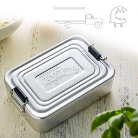 Gravierte Lunchbox fr Jungs - quadratisch