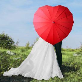 Herz Regenschirm zur Hochzeit
