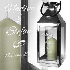 Hochzeitslaterne - Licht der Ehe - Geschenke zur Silberhochzeit