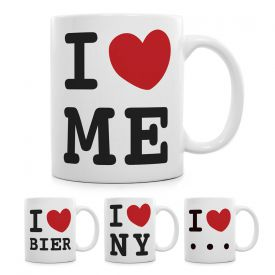 I Love - personalisierte Tasse