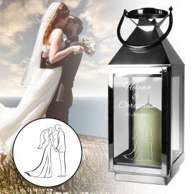Laterne zur Hochzeit - Silhouette - Geschenke zur diamantenen Hochzeit