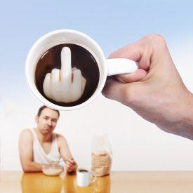 Mittelfinger Tasse - Geschenke an Mitarbeiter