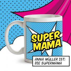 Personalisierte Supercape Tasse - Mama